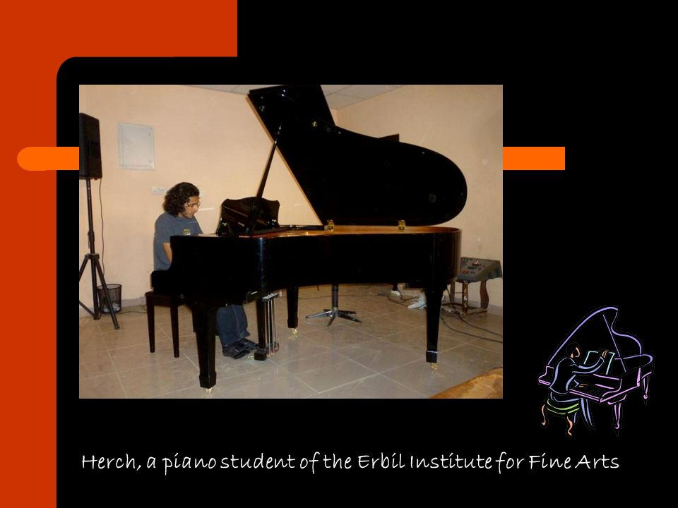 Herch, a piano student of the Erbil Institute for Fine Arts