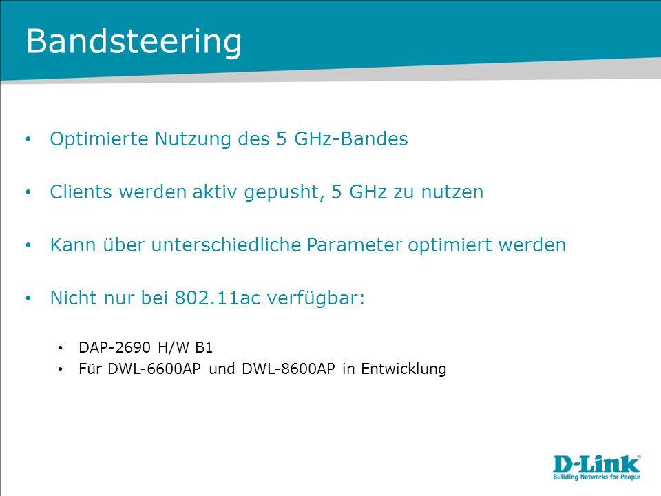 Bandsteering Optimierte Nutzung des 5 GHz-Bandes