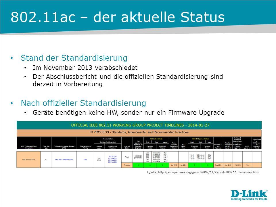 802.11ac – der aktuelle Status