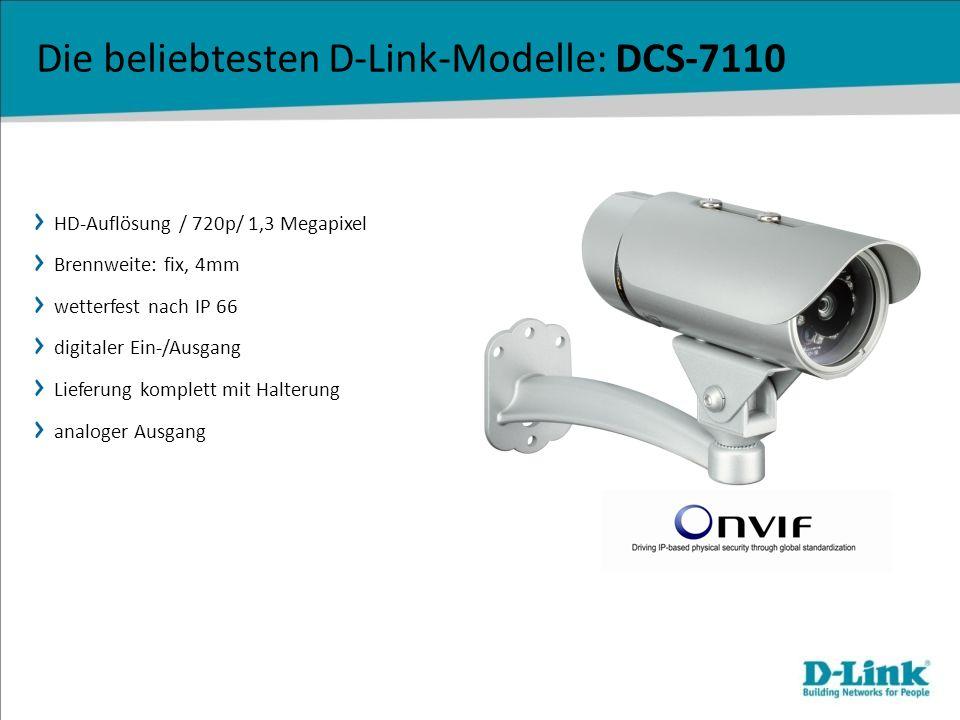 Die beliebtesten D-Link-Modelle: DCS-7110