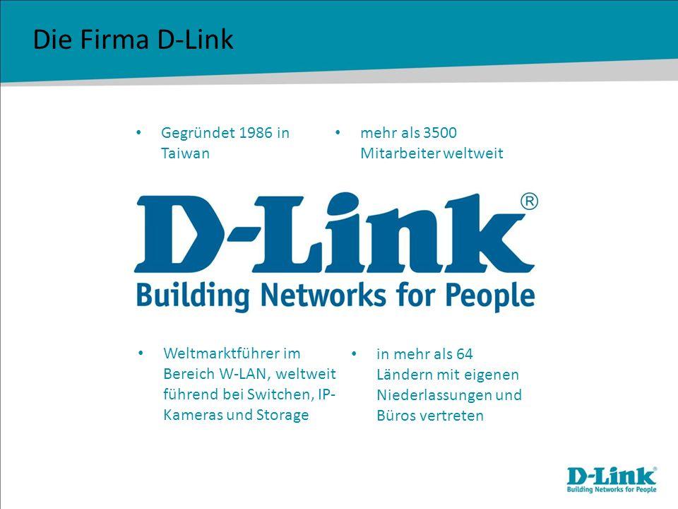 Die Firma D-Link Gegründet 1986 in Taiwan