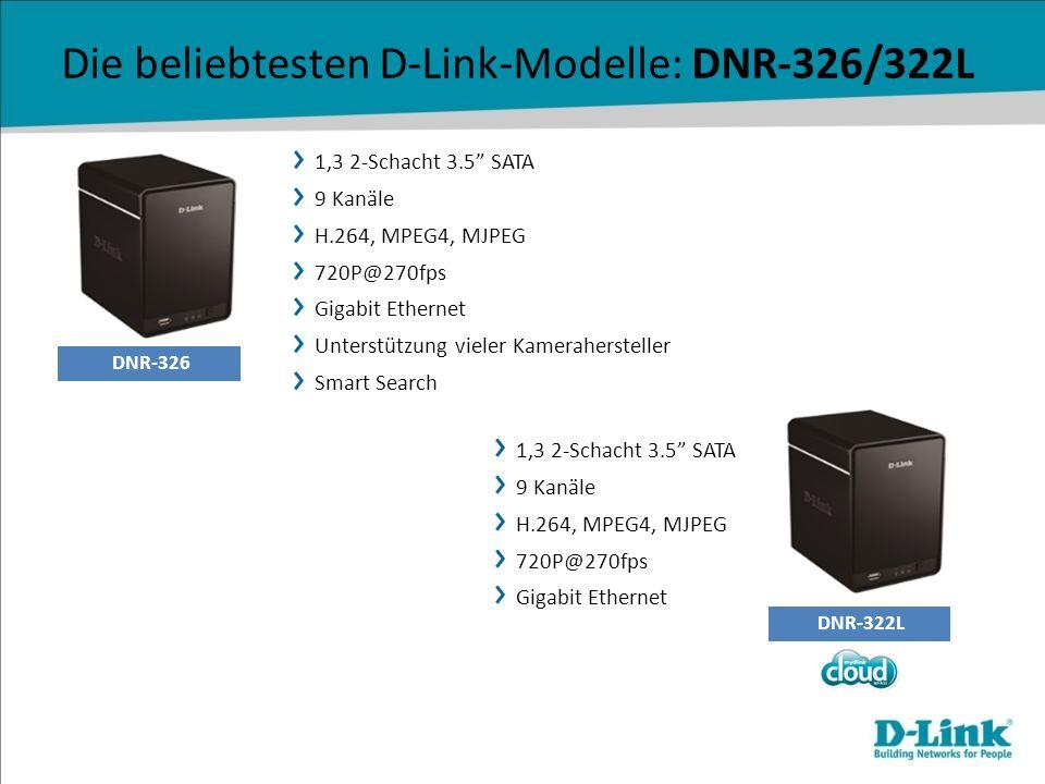 Die beliebtesten D-Link-Modelle: DNR-326/322L