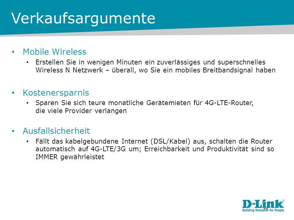 Verkaufsargumente Mobile Wireless Kostenersparnis Ausfallsicherheit