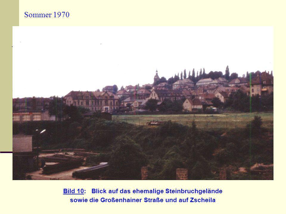 sowie die Großenhainer Straße und auf Zscheila