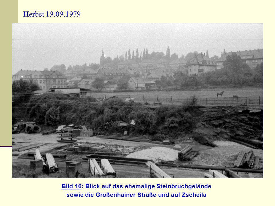 Herbst 19.09.1979 Bild 16: Blick auf das ehemalige Steinbruchgelände
