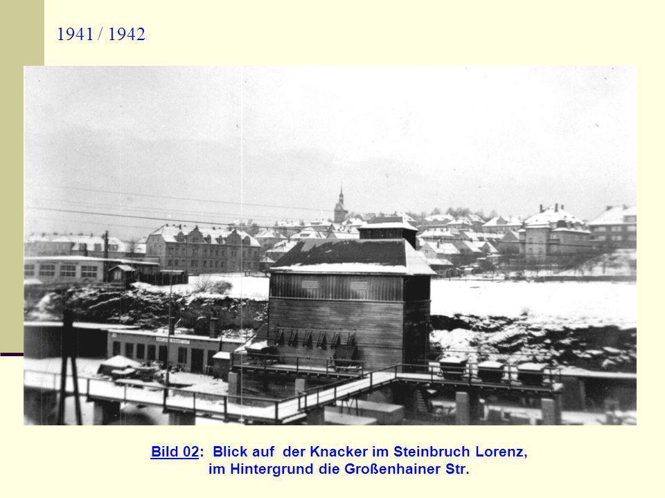 im Hintergrund die Großenhainer Str.
