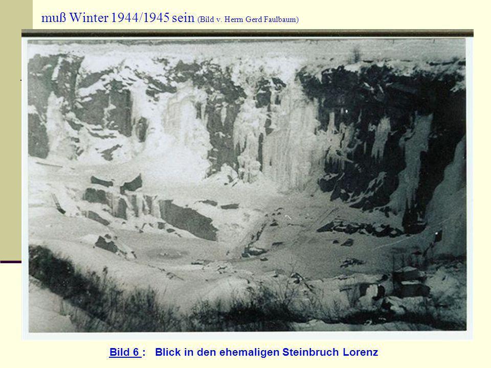 muß Winter 1944/1945 sein (Bild v. Herrn Gerd Faulbaum)