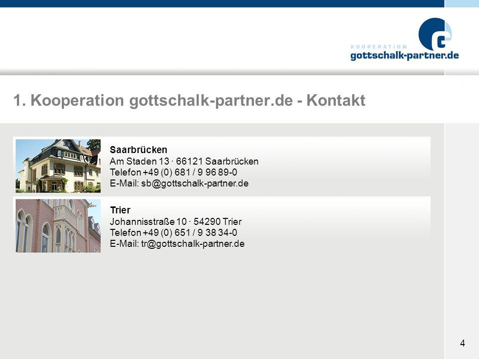 1. Kooperation gottschalk-partner.de - Kontakt