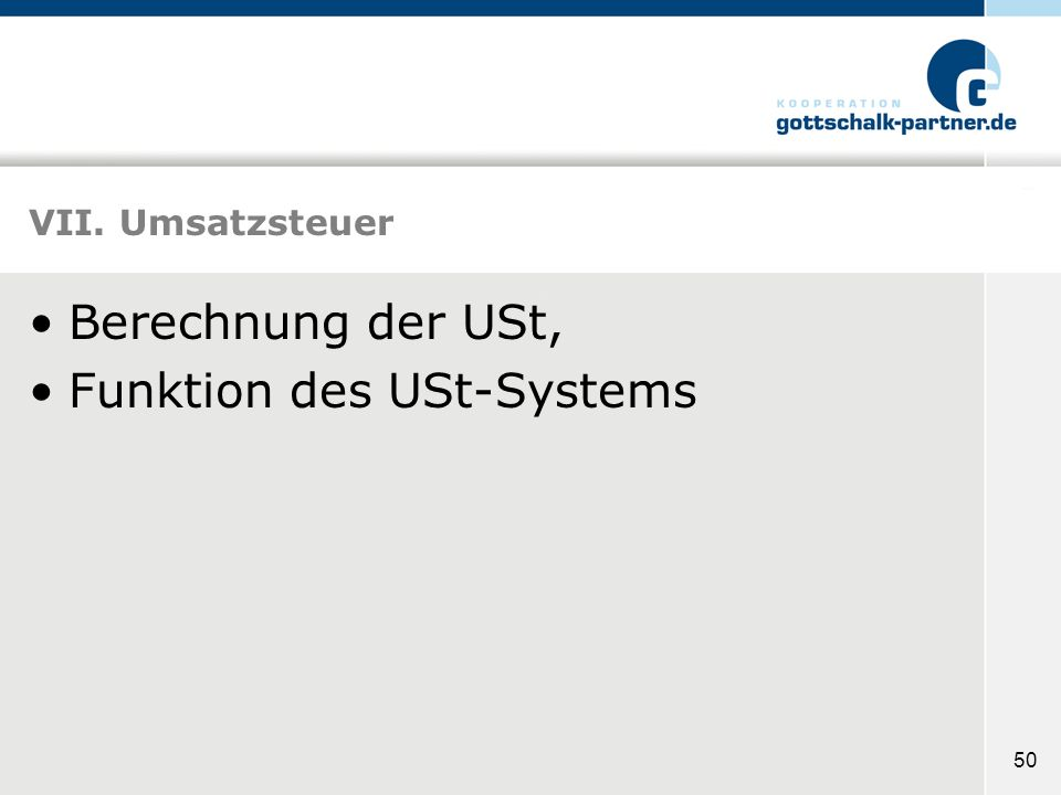 Funktion des USt-Systems