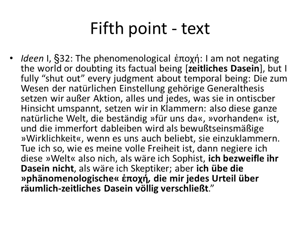 Fifth point - text