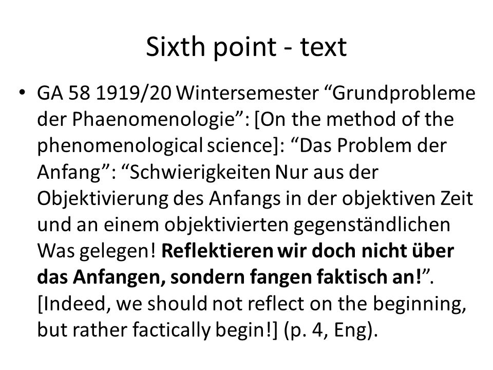 Sixth point - text