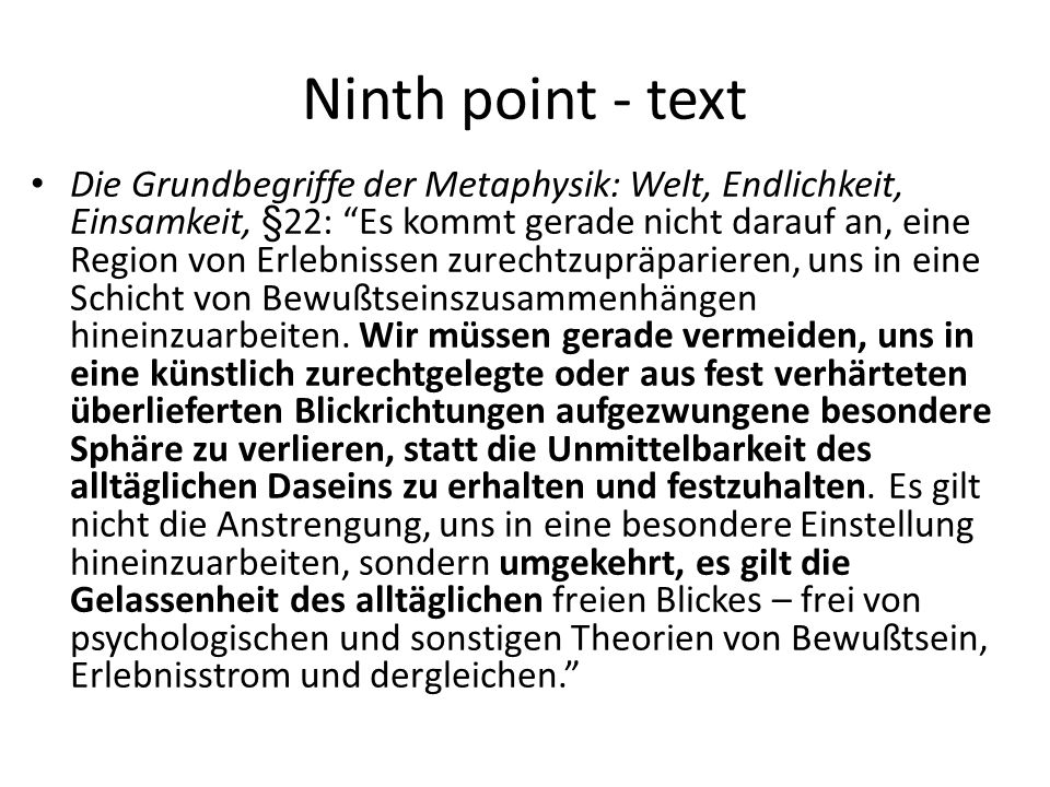 Ninth point - text