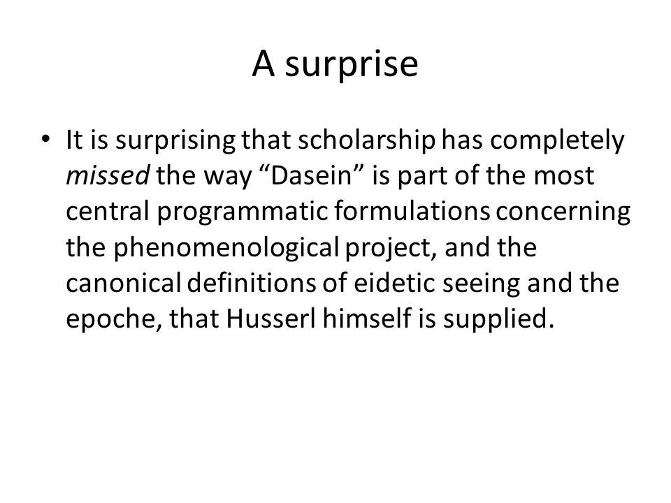 A surprise