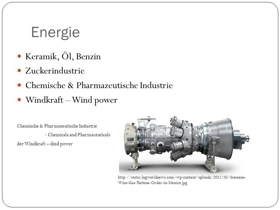 Energie Keramik, Öl, Benzin Zuckerindustrie