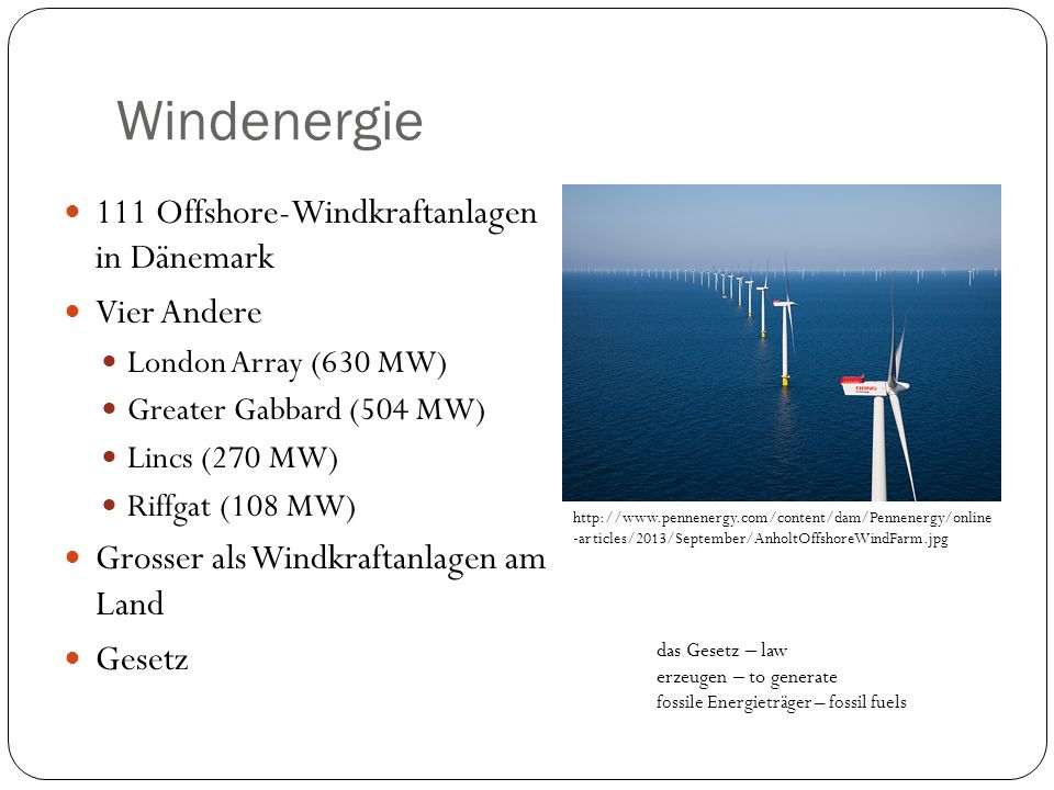 Windenergie 111 Offshore-Windkraftanlagen in Dänemark Vier Andere