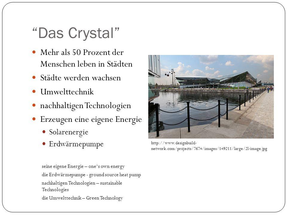 Das Crystal Mehr als 50 Prozent der Menschen leben in Städten