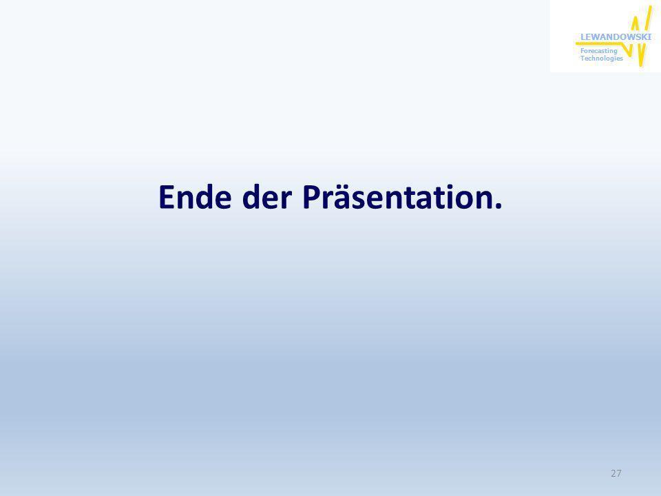 Ende der Präsentation.