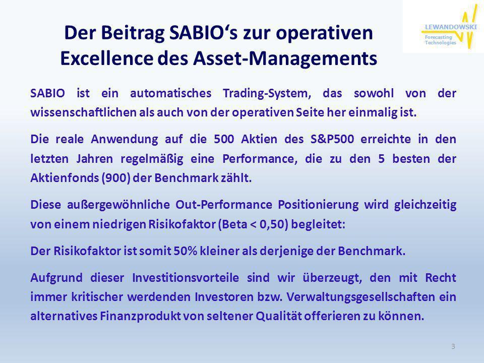 Der Beitrag SABIO's zur operativen Excellence des Asset-Managements