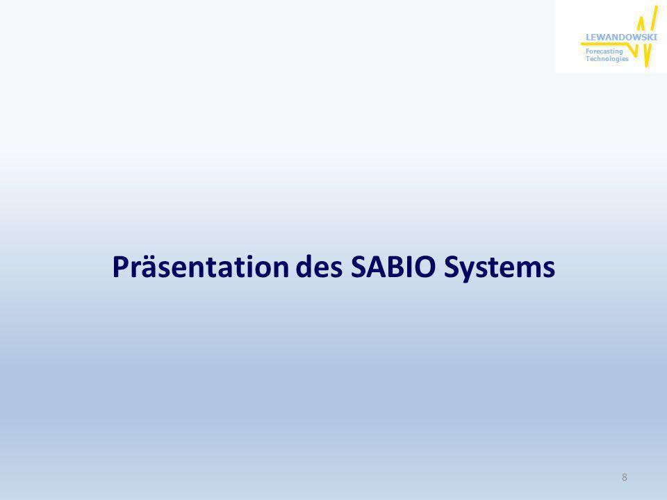 Präsentation des SABIO Systems