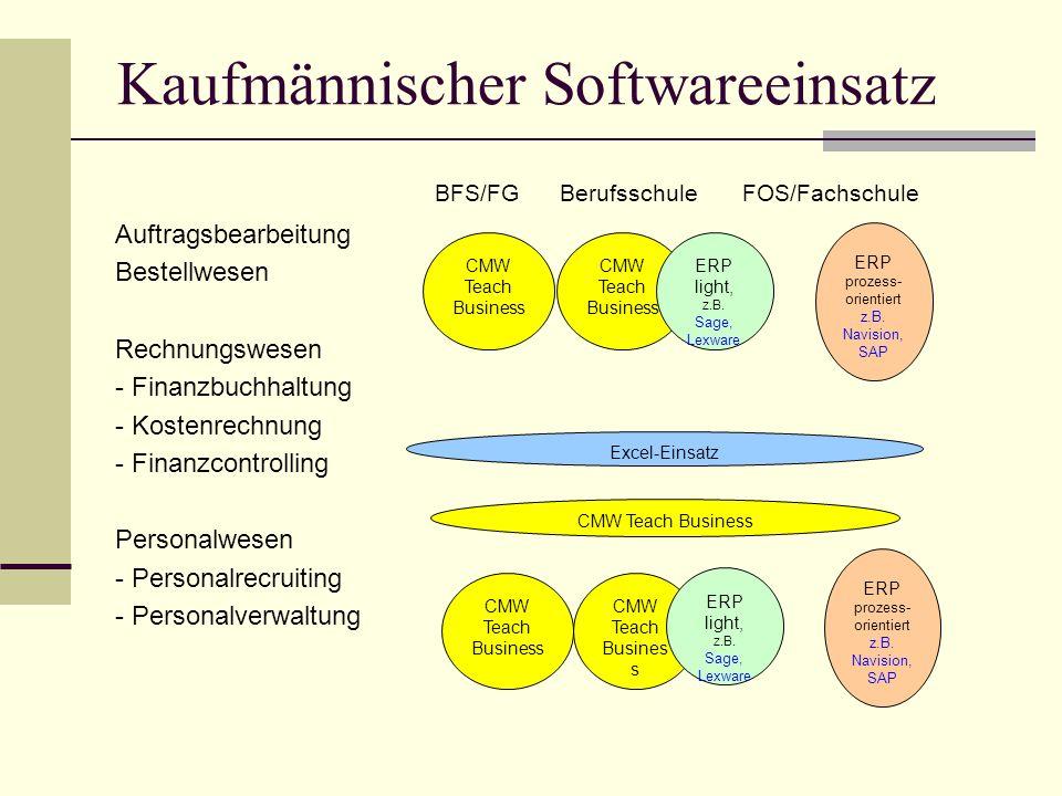 Kaufmännischer Softwareeinsatz
