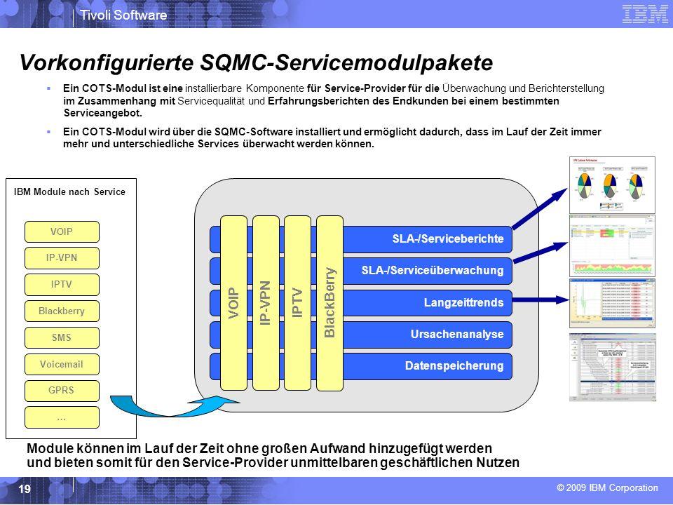 Vorkonfigurierte SQMC-Servicemodulpakete