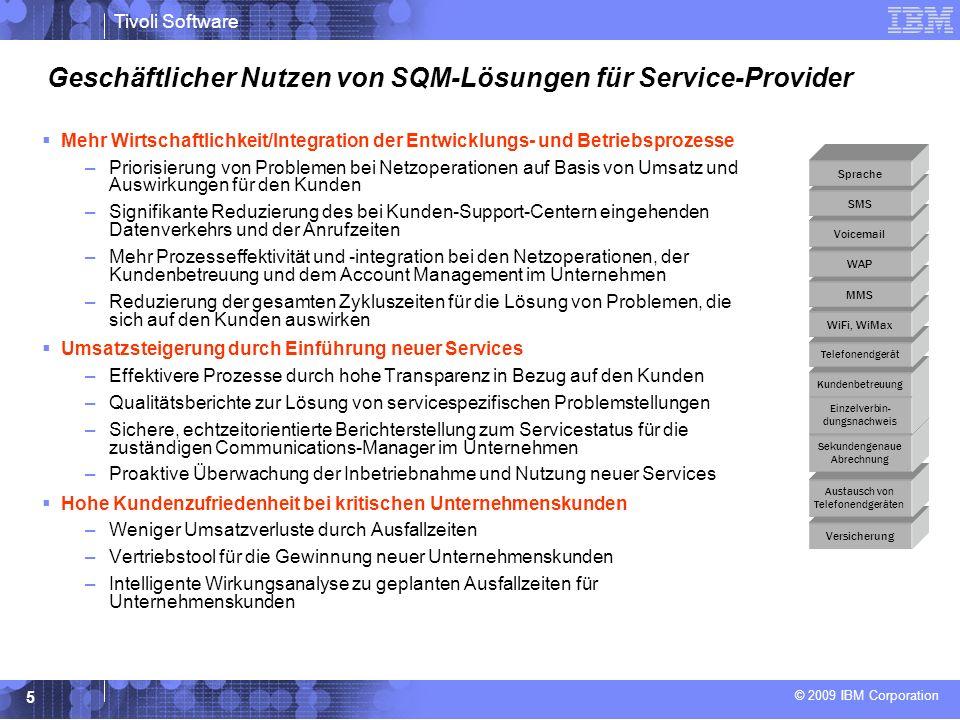 Geschäftlicher Nutzen von SQM-Lösungen für Service-Provider
