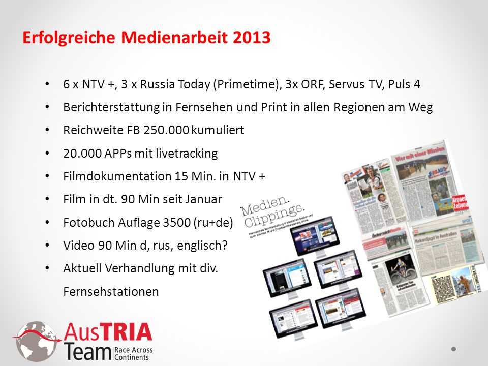Erfolgreiche Medienarbeit 2013