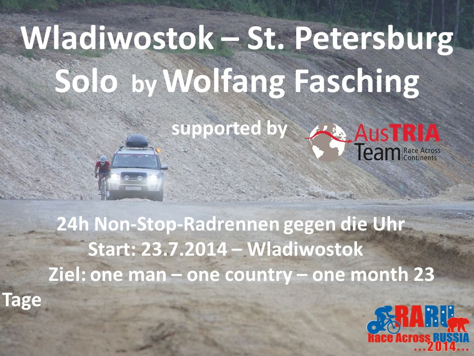 Wladiwostok – St. Petersburg Solo by Wolfang Fasching