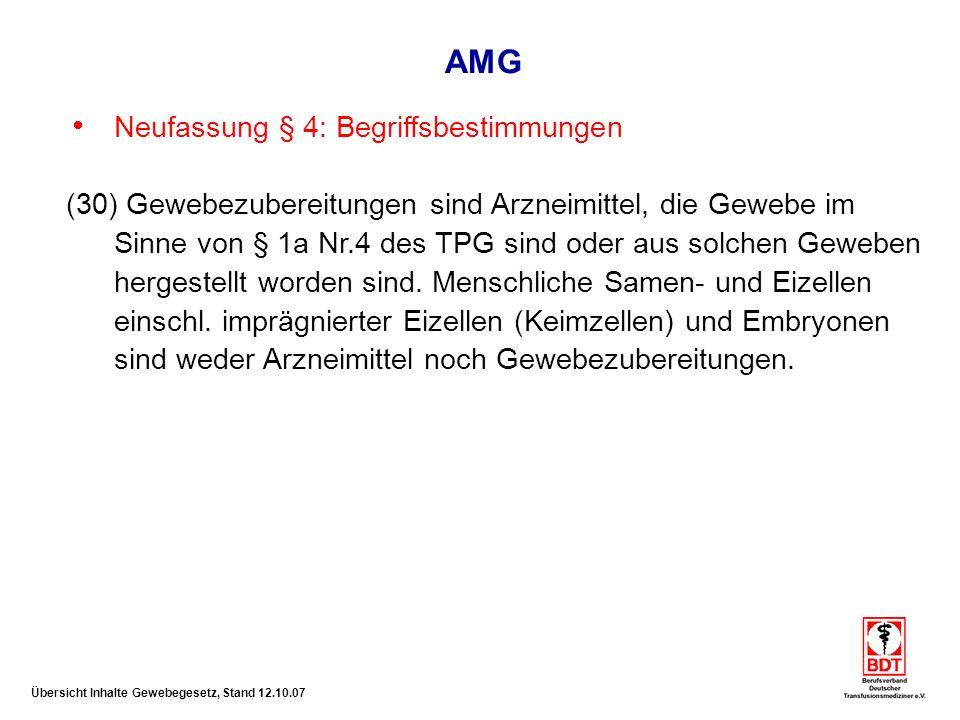 AMG Neufassung § 4: Begriffsbestimmungen