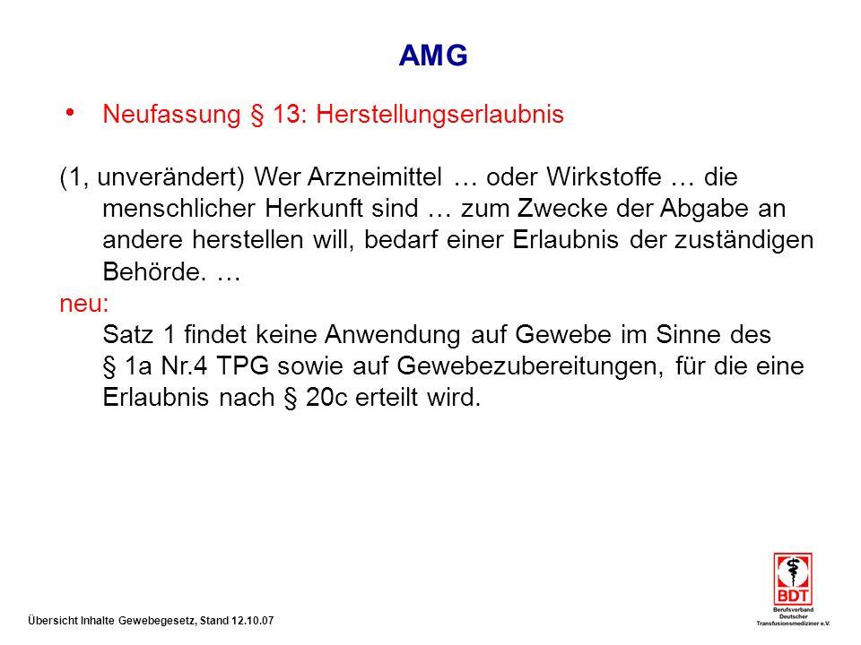 AMG Neufassung § 13: Herstellungserlaubnis