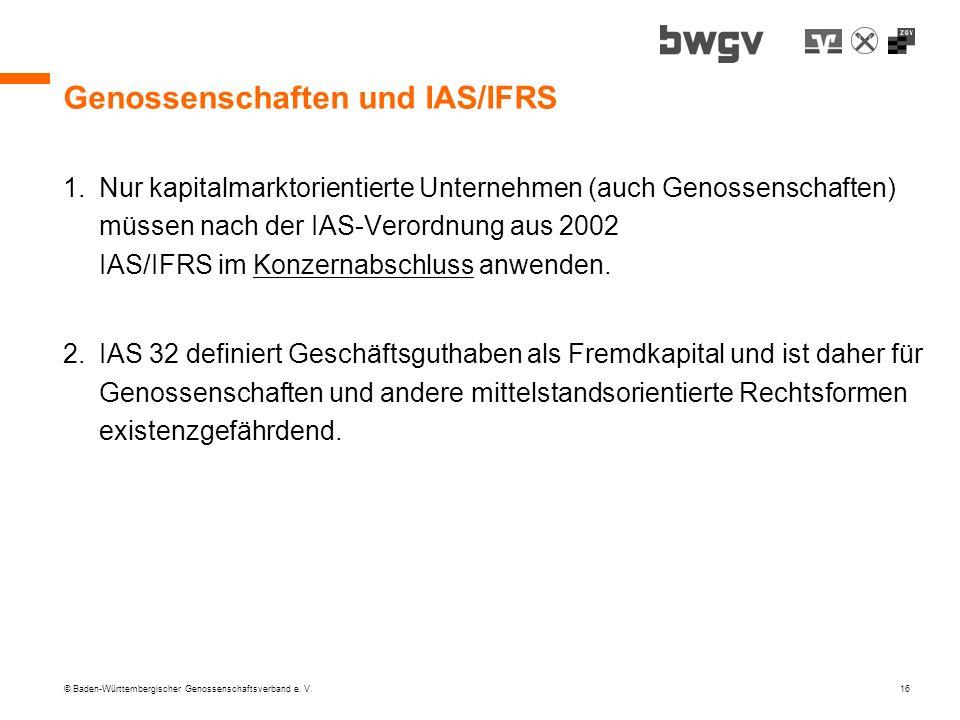 Genossenschaften und IAS/IFRS