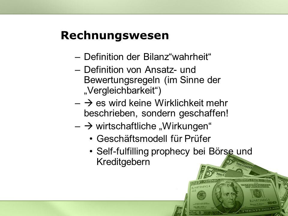 Rechnungswesen Definition der Bilanz wahrheit