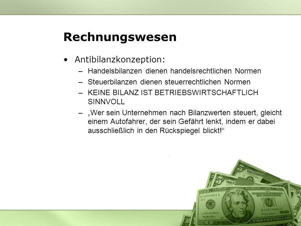 Rechnungswesen Antibilanzkonzeption: