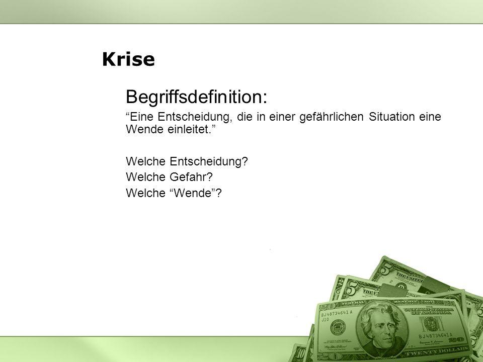Krise Begriffsdefinition: