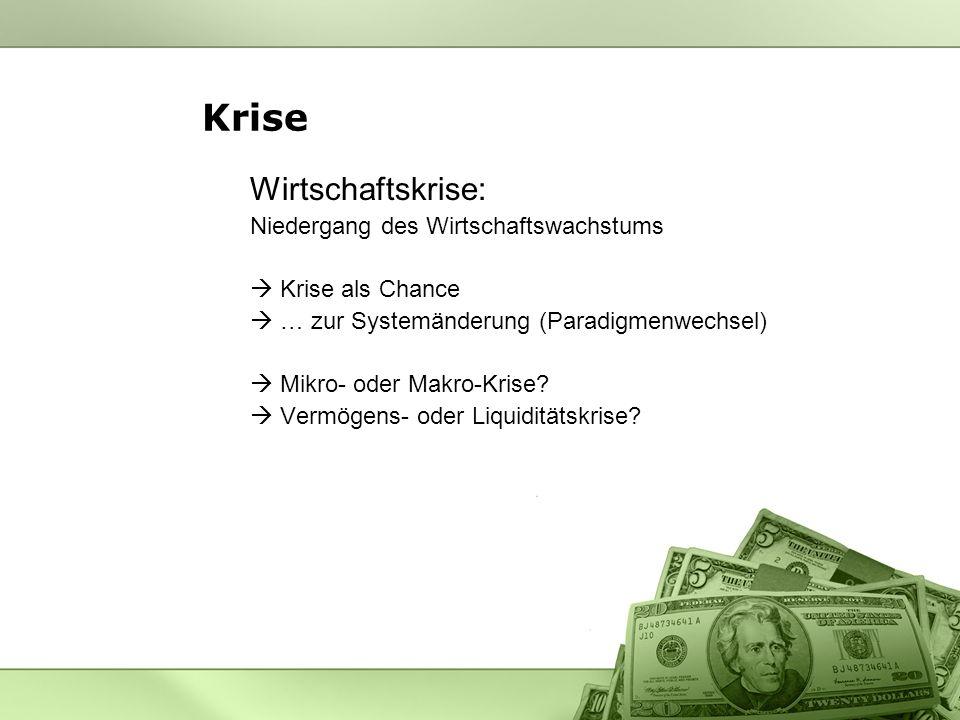Krise Wirtschaftskrise: Niedergang des Wirtschaftswachstums
