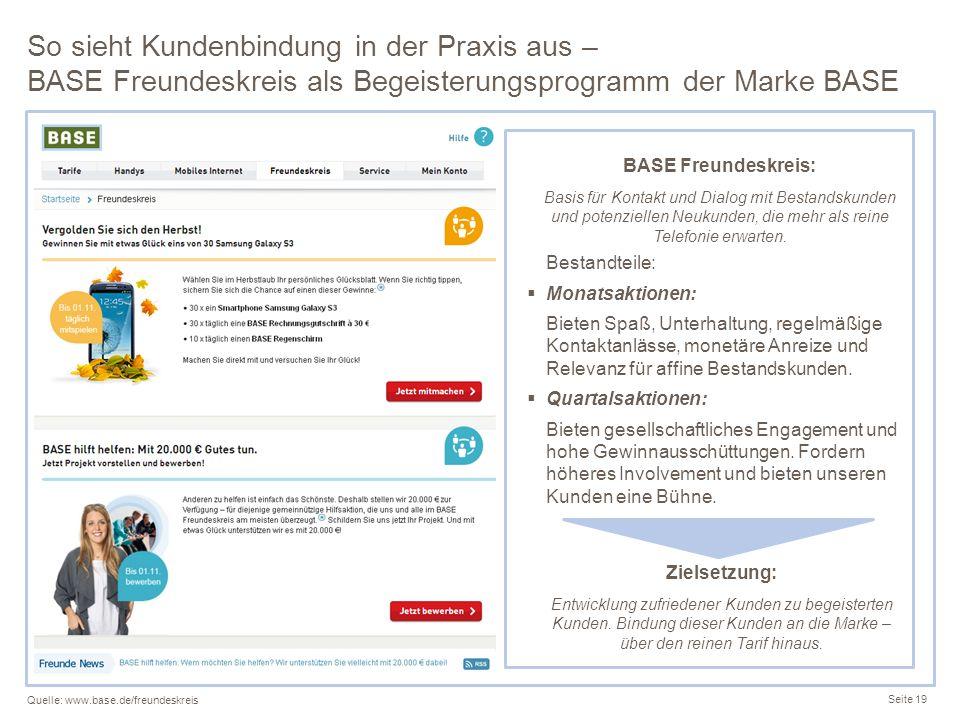 So sieht Kundenbindung in der Praxis aus – BASE Freundeskreis als Begeisterungsprogramm der Marke BASE