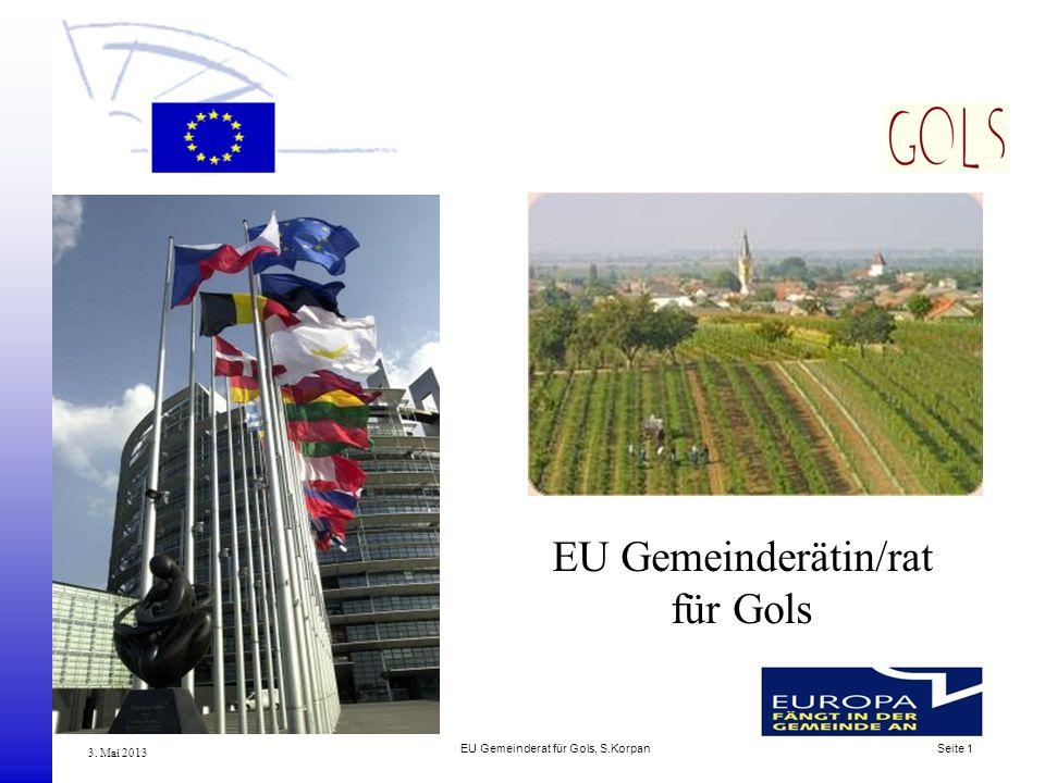 EU Gemeinderätin/rat für Gols