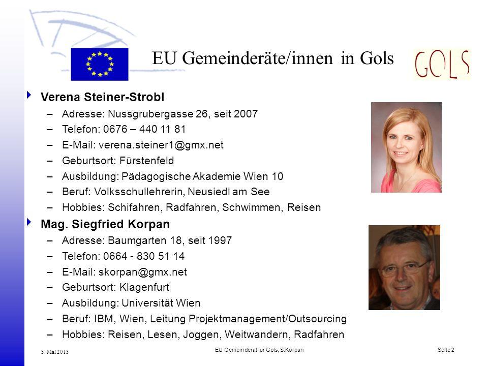 EU Gemeinderäte/innen in Gols
