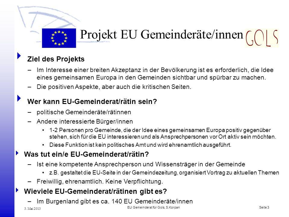Projekt EU Gemeinderäte/innen