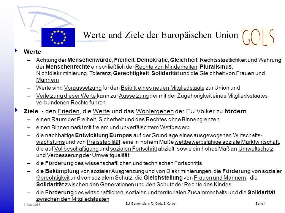 Werte und Ziele der Europäischen Union