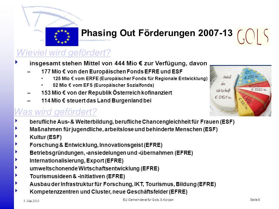 Phasing Out Förderungen 2007-13