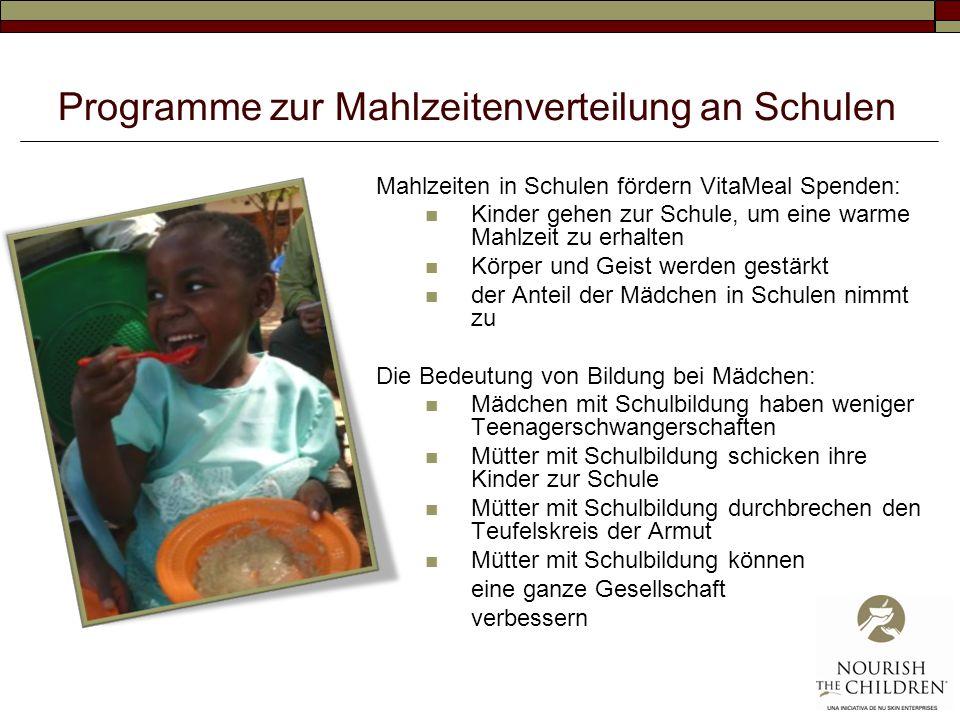 Programme zur Mahlzeitenverteilung an Schulen
