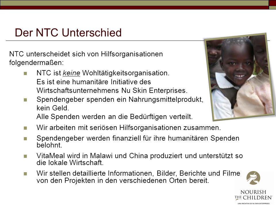 Der NTC Unterschied NTC unterscheidet sich von Hilfsorganisationen