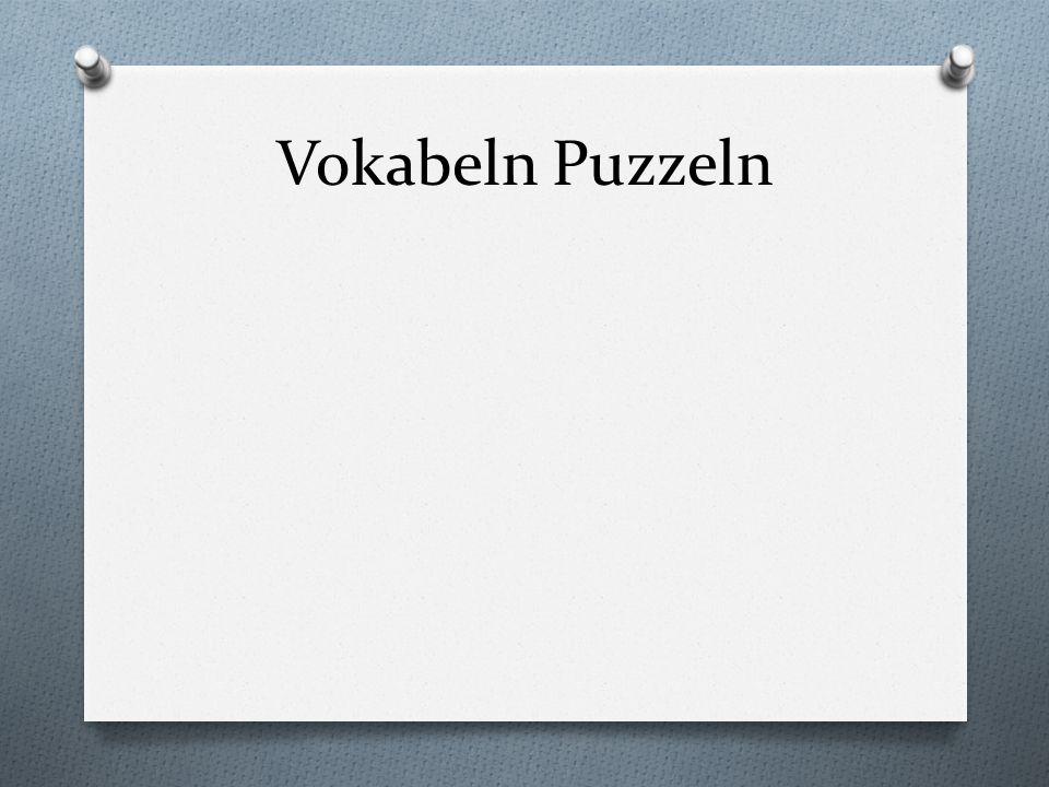 Vokabeln Puzzeln