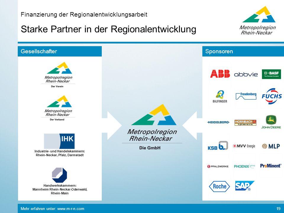 Finanzierung der Regionalentwicklungsarbeit