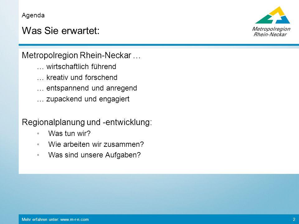 Was Sie erwartet: Metropolregion Rhein-Neckar …
