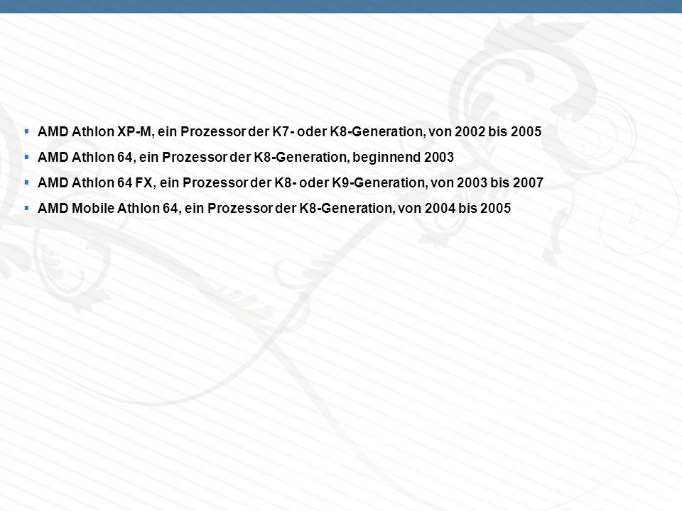 AMD Athlon XP-M, ein Prozessor der K7- oder K8-Generation, von 2002 bis 2005