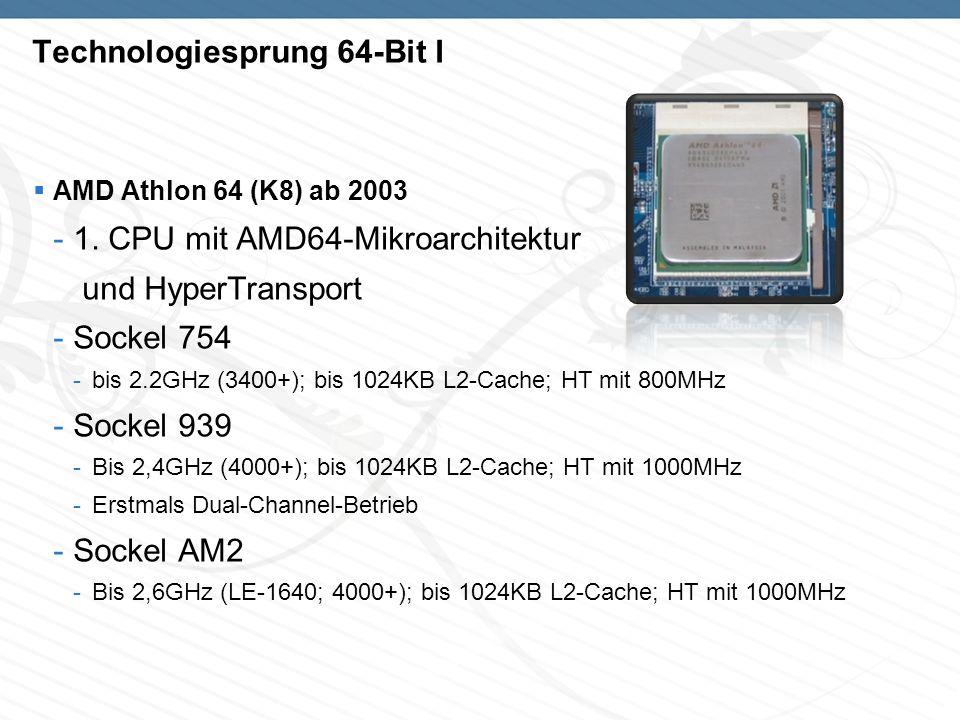 Technologiesprung 64-Bit I