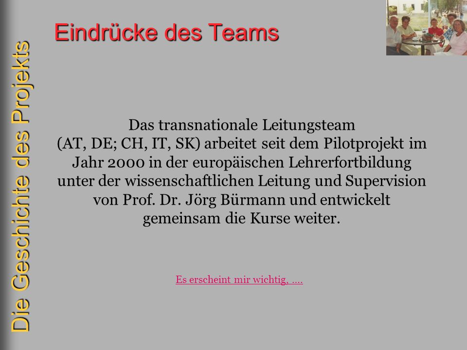 Das transnationale Leitungsteam