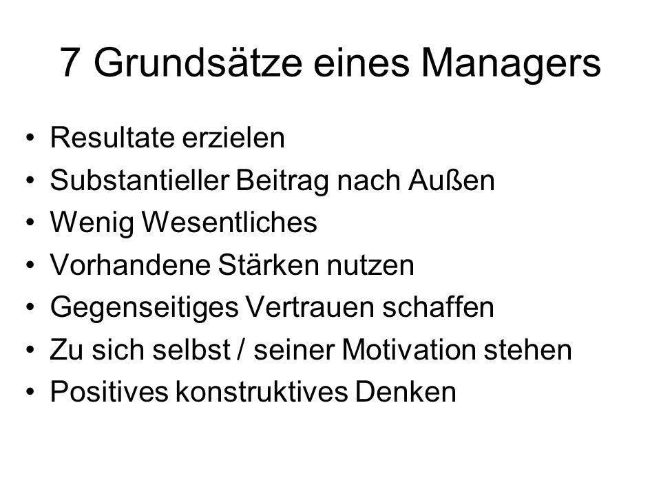 7 Grundsätze eines Managers